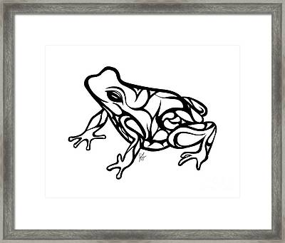 Tribal Ribbet  Framed Print
