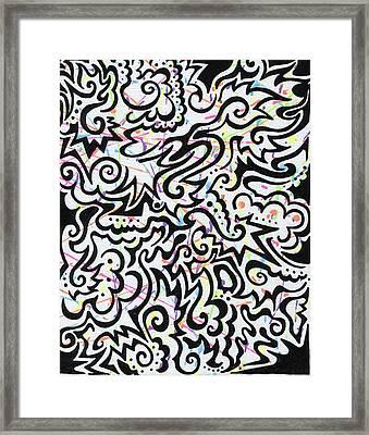 Tribal Splatter Framed Print by Mandy Shupp