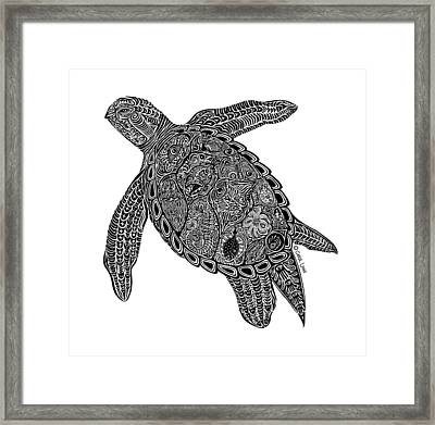 Tribal Turtle I Framed Print by Carol Lynne