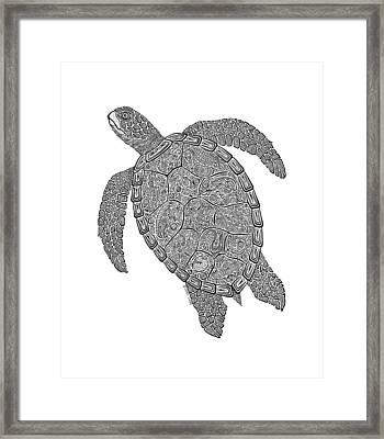Tribal Turtle II Framed Print by Carol Lynne
