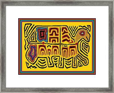 Tribal Turtle Spirit Framed Print by Vagabond Folk Art - Virginia Vivier