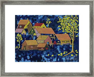 Tribal Village Framed Print