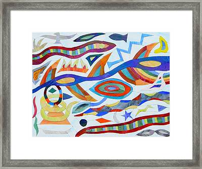 Tribal Visions Framed Print by Charles McDonell