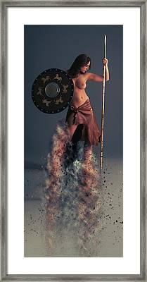 Tribal Warrior Framed Print by Nichola Denny