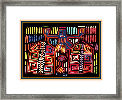 Tribal Woman Fanning Stove Framed Print by Vagabond Folk Art - Virginia Vivier