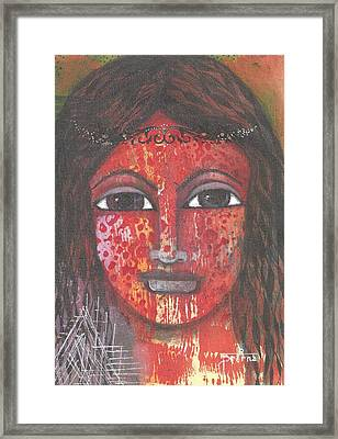 Framed Print featuring the mixed media Tribal Woman by Prerna Poojara