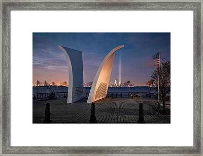 Framed Print featuring the photograph Tribute In Light by Eduard Moldoveanu