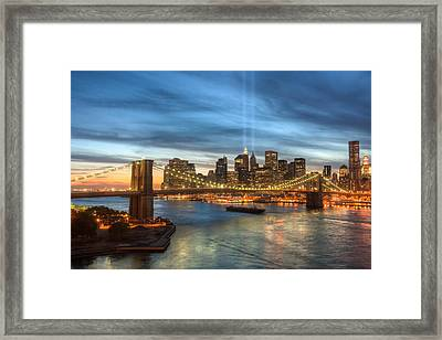 Tribute In Light I Framed Print by Clarence Holmes
