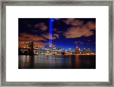 Tribute In Light Framed Print by Rick Berk