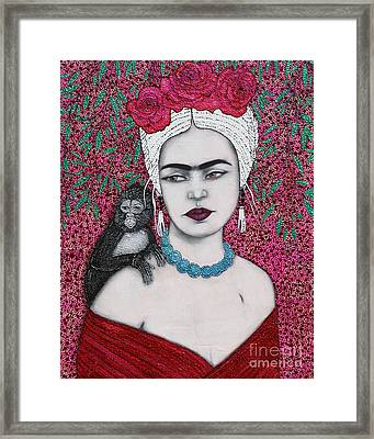 Framed Print featuring the mixed media Tribute by Natalie Briney