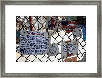 Tribute Tiles Framed Print by Mary Haber