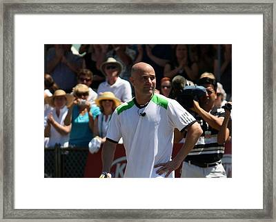 Tribute To Agassi Framed Print by Anne Babineau