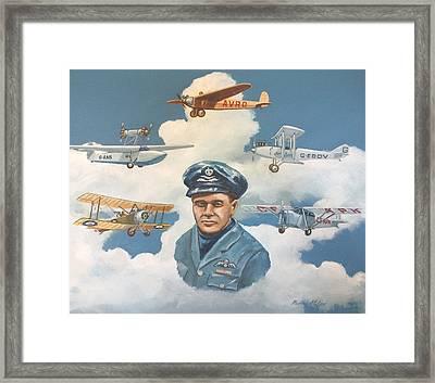 Tribute To Bert Hinkler Framed Print