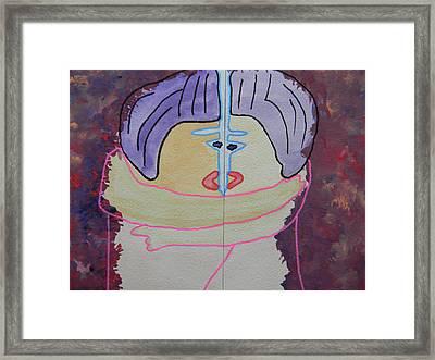 Tribute To C. Brancusi Framed Print by Marwan George Khoury