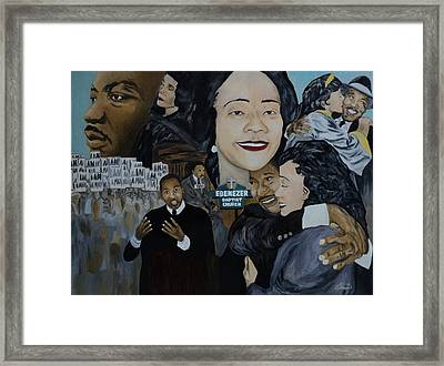 Tribute To Dr Martin Luther King Jr Framed Print by Angelo Thomas