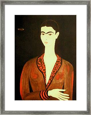 Framed Print featuring the painting Tribute To Frida by Stephanie Moore