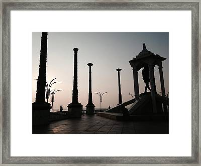 Tribute To Gandhi  Framed Print