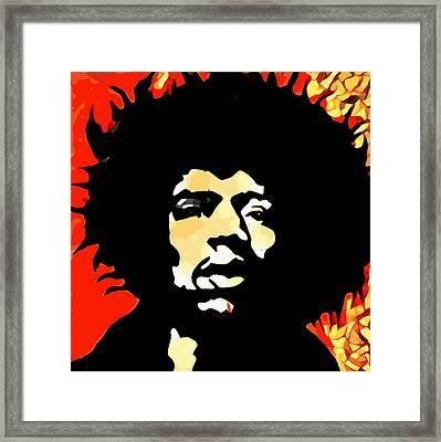 Tribute To Hendrix Framed Print