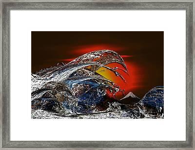 Tribute To Hokusai Framed Print by Tony Marquez