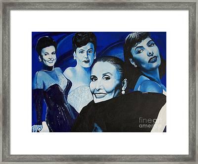 Tribute To Lena Horne Framed Print