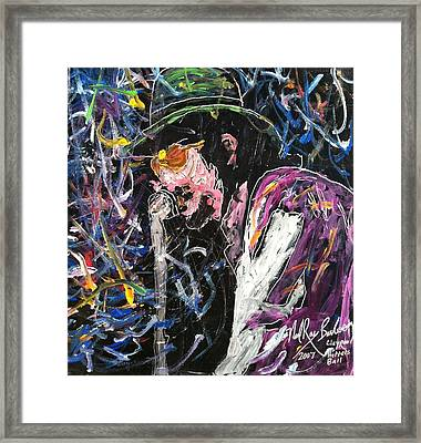 Tribute To Les Claypool Framed Print by Neal Barbosa