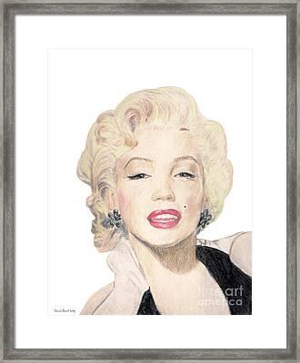 Tribute To Marilyn Monroe Framed Print