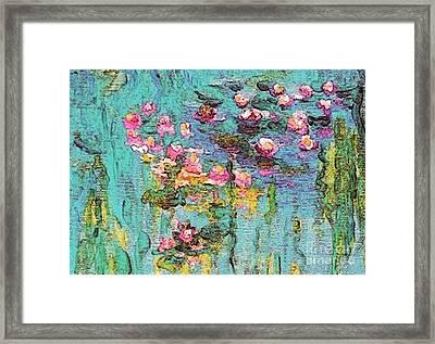 Tribute To Monet II Framed Print