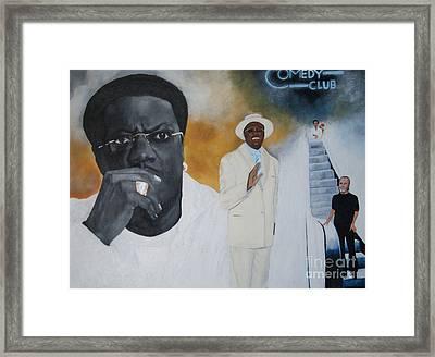 Tribute To Mr. Bernie Mac Framed Print
