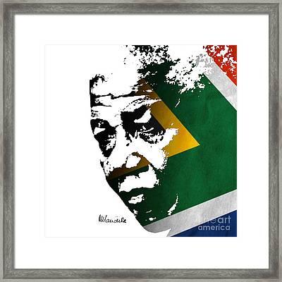 tribute to Nelson Mandela Framed Print