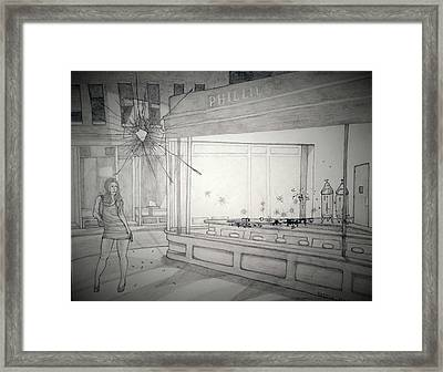 Tribute To Nighthawks Framed Print by Roesch