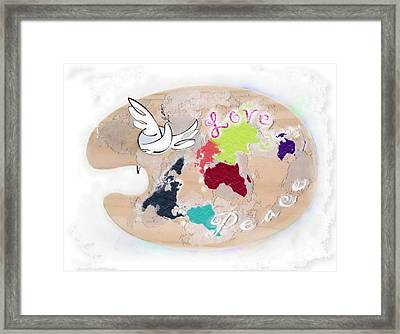 Tribute To Picasso Framed Print by Freddy Kirsheh