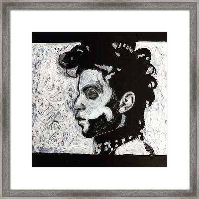 Tribute To Prince Framed Print