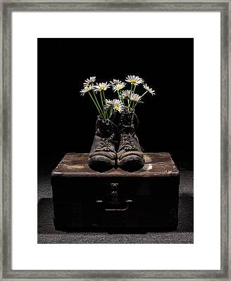 Tribute To The Fallen Framed Print by Aaron Aldrich