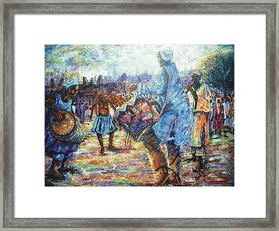 Tribute To The Royal Fathers Framed Print by Bankole Abe