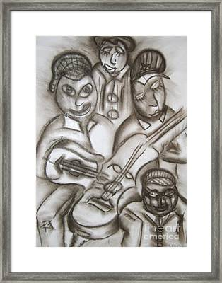 Tribute To The String Bass Framed Print