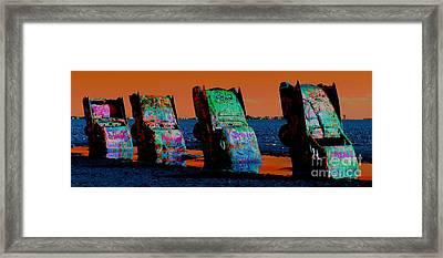 Tribute To The Tailfin Framed Print by Jenny Revitz Soper