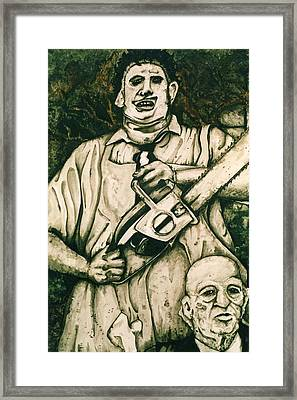 Tribute To The Texas Chainsaw Massacre Framed Print by Sam Hane