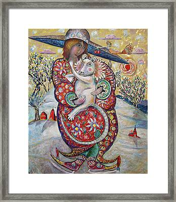 Tribute To Toller Cranston Framed Print by Andrew Osta
