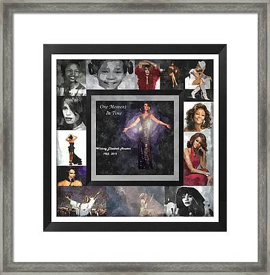 Tribute Whitney Houston One Moment In Time Framed Print