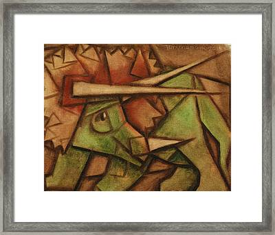 Tommervik Triceratops Dinosaur Art Print Framed Print