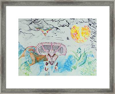 Triceratops Metamorphisis Framed Print by Contemporary Michael Angelo