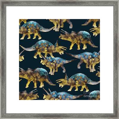 Triceratops Framed Print by Varpu Kronholm