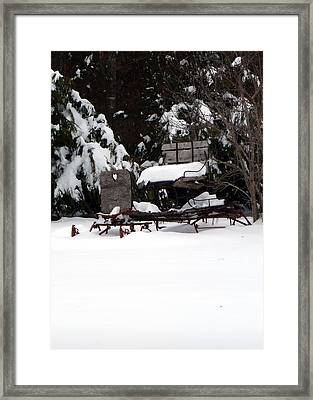 Framed Print featuring the photograph Tricia's Sleigh by Joel Deutsch