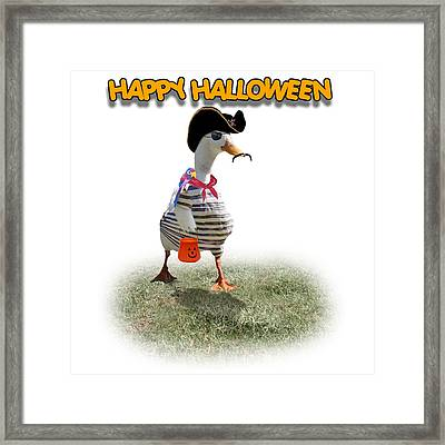 Trick Or Treat For Cap'n Duck Framed Print