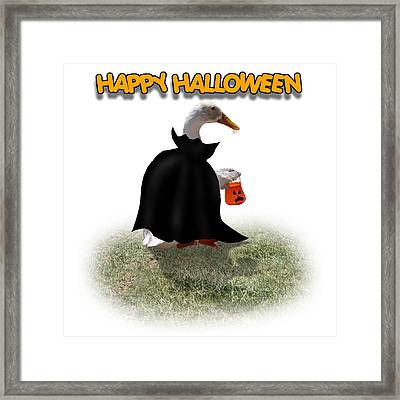 Trick Or Treat For Count Duckula Framed Print