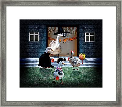 Trick Or Treat Time For Little Ducks Framed Print
