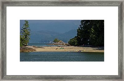 Trickett Island Beach Framed Print