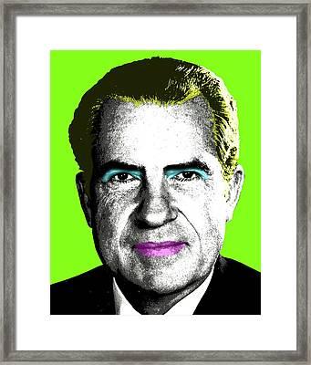 Tricky Dickie Monroe - Green Framed Print