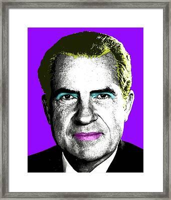 Tricky Dickie Monroe - Purple Framed Print