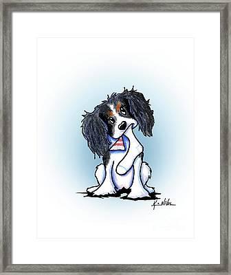 Tricolor Ckc Spaniel Framed Print by Kim Niles
